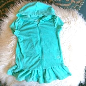 4T terrycloth hooded swim coverup